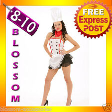 8303 Sexy Master Chef Maid Adult  Fancy Dress Costume