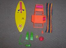 Mattel Barbie Beach Items Surf Board Skin Diving Equipment Chair Towel Bucket