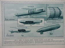 1916 AIRSHIP CONSTRUCTION DIAGRAMS; MRS JARLEY'S WAXWORKS WWI WW1 DOUBLE PAGE