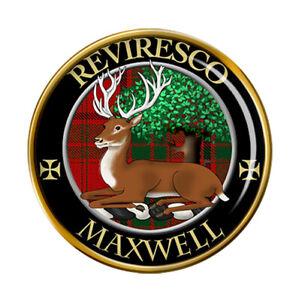 Maxwell Scottish Clan Pin Badge