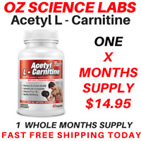 From $14.95* Acetyl L - Carnitine Capsules Weight Loss Fat Burn Alcar Nootropric