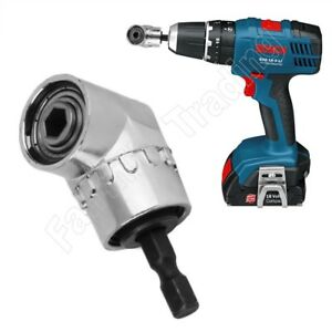 """Angled Quick Release Bit Holder Magnetic 1/4"""" Hex Screwdriver Drill Impact Drive"""