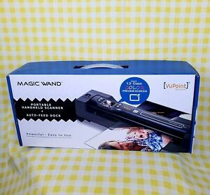 VuPoint Solutions Magic Wand Portable Scanner w/Auto-Feed Dock & 8GB Micro SD