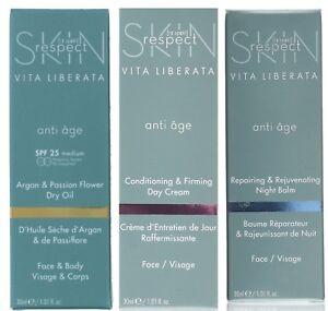VITA LIBERATA Skin Respect ANTI AGE Face Cream or Oil - Choose NIGHT DAY or OIL