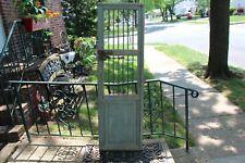 Antique Wood Door Country Farmhouse Jail Door Metal Bars Original Hardware Garde