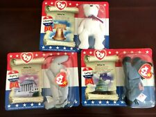 TY Beanie Babies Lot of 3 Patriotic Liberty Lefty and Righty New 1996 Mcdonalds