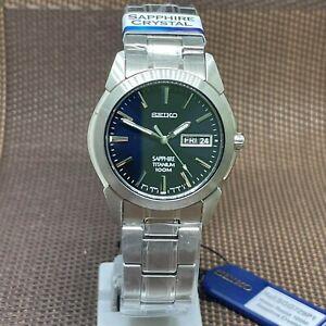 Seiko SGG729P1 Quartz Analog Sapphire Titanium Band Men's Watch