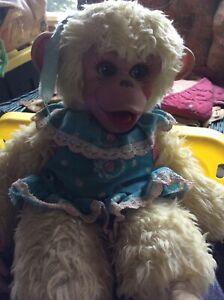 Vintage Rushkin Tippy Monkey Girlfriend Of Zip Zippy From Howdy Doody Blue Dress