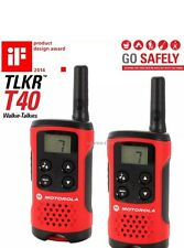 U Motorola TLKR T40 2 Way Walkie Talkies Twin Pack
