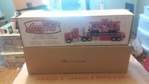 TMT k-line flatbed toy truck w/train car-coke coca cola by taylor made trucks