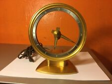 Mid Century Modern Jefferson Golden Minute Electric Mystery Clock Parts