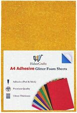 A4 Gold Glitter Foam Sheets EVA Foam Adhesive Sticky Back Foam Sheet 1.8mm