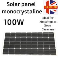 Solar panel 100w Monocrystaline 36cells 1200x540x30mm Caravan, Boats, Motorhomes