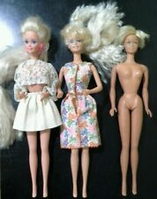 Lot of 3 Mattel Dolls  1966 - Barbie (lot5513)