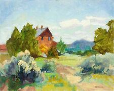 "Fran Gottlieb ""Branham Ranch"" Hand Signed Original Oil Painting Art on Board OBO"