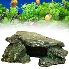 New listing Us Aquarium Fish Tank Hiding Cave Rock Stone Tortoise Fish Hide Stone Accessory