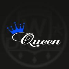 2 Color Queen Crown decal sticker car window princess queen decals