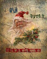 Primitive Santa Claus Belsnickel Old Thyme Christmas Folk Art PRINT ONLY 8x10
