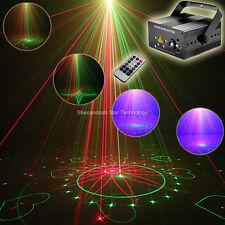 Mini RGB 5 Lens Laser 80 Patterns Projector Led Party DJ Bar Disco Stage Light