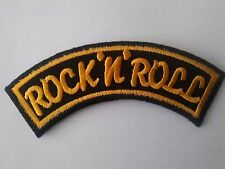 ROCK 'N' ROLL BLACK AND YELLOW (SHOULDER STYLE?) SEW ON OR IRON ON PATCH