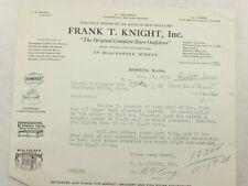 1931 Lamson Goodnow Frank T Knight Inc Boston MA Lamb Cleaver Ephemera L961K
