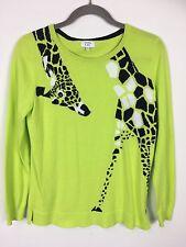 Crown And Ivy Women's Giraffe Sweater Size Medium Long Sleeve Animal Print