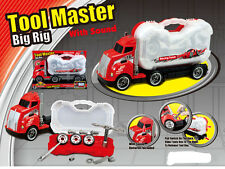 KIDS TOOL MASTER BIGRIG  BOX HAULER PRETEND TRUCK DRIVER MECHANIC PLAY SOUND SET