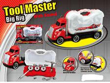 Kids herramienta Master bigrig Caja Transportador fingir conductor de camión mecánico Juego Conjunto De Sonido