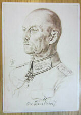 German Wehrmacht General Rundstedt Willrich postcard 1940 Cartolina tedesca 2g