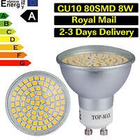 LED Ampoule LED 8W GU10 80SMD 3528 Blanc Chaud Froid Lampe downlight lumière DEL