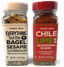 Trader Joe's Seasonings Bundle - Everything But The Bagel Sesame and Chile Lime.