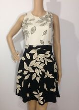 2a0a6d8e8c5 BNWT ZARA BLACK LEAF PRINTED DRESS Size S