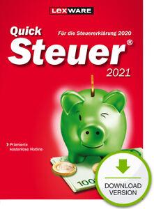 QuickSteuer 2021 für die Steuererklärung 2020, Download (ESD), Windows