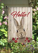 Hello Rabbit - Double Sided Soft Flag  **GARDEN SIZE**   FG1029
