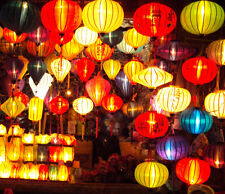 Lot 4 pcs Silk Lanterns for wedding decor - Party decor - Hoian silk lanterns