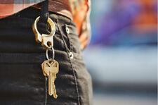 Multifunction EDC Solid Brass Beer Bottle Opener Brass Keychain Key Ring