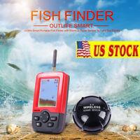 US STOCK!! Portable Smart Fish Finder+Wireless Sonar Sensor for Lake Sea Fishing