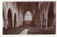 St Johns Church Torquay Devon Vintage RP Postcard 766b