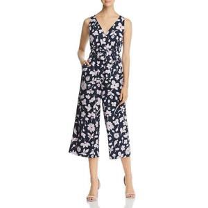 Kate Spade Womens Navy Printed Sleeveless Dressy Jumpsuit 10 BHFO 3037