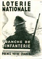 Publicité ancienne loterie nationale tranche d'infanterie 1940 issue de magazine
