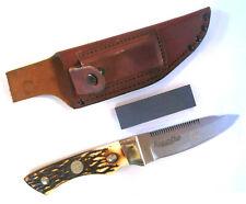 Vintage Remington UMC R-6 Skinner Combo Edge Fixed Blade Full Tang Knife &Sheath