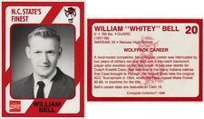 WILLIAM BELL # 20 - MINT CONDITION - 1989 NORTH CAROLINA STATE'S FINEST