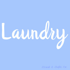 "11"" Laundry Stencil Stencils Template Templates Craft Pattern Border Art New"