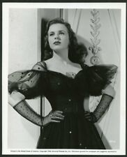 DEANNA DURBIN STUNNING in AMAZING LACE DRESS Original Vtg 1943 PORTRAIT Photo