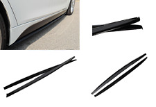 GLOSS BLACK BMW F30 F31 M PERFORMANCE STYLE SIDE SKIRT EXTENSION 2012-2019 BLADE