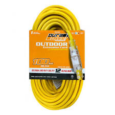 DuraDrive 20282 Pro Power 100 ft. 12/3 SJTW Single Tap Extension Cord