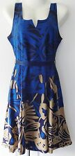 Desigual Ladies Dress 'JASMINE' Blue&Multi,Size L (Was £39.99)
