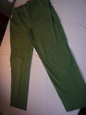 BETTY BARCLAY BASIC  TAPERED LEG JEANS 16  30W 26L GREEN COTTON