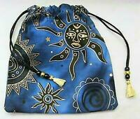 Sun Moon Stars Wicca Pagan Tarot Card Drawstring Mojo Bag Pouch