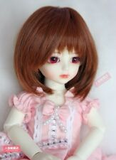 NEW YOSD 6~7 inch 15~17cm 1/6 doll Wig Tiny BJD Hair Brown AOD DOD DL DZ